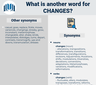changes, synonym changes, another word for changes, words like changes, thesaurus changes