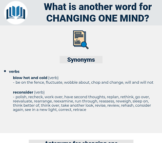 changing one mind, synonym changing one mind, another word for changing one mind, words like changing one mind, thesaurus changing one mind
