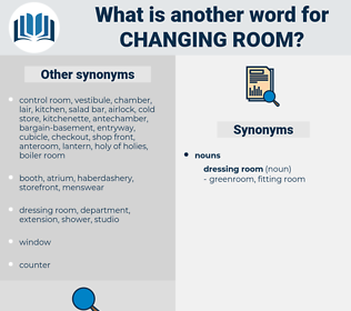 changing room, synonym changing room, another word for changing room, words like changing room, thesaurus changing room