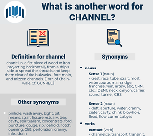 channel, synonym channel, another word for channel, words like channel, thesaurus channel