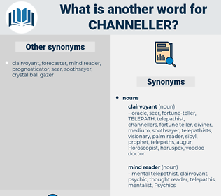 channeller, synonym channeller, another word for channeller, words like channeller, thesaurus channeller