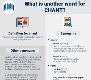 chant, synonym chant, another word for chant, words like chant, thesaurus chant