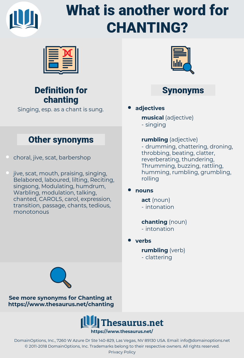 chanting, synonym chanting, another word for chanting, words like chanting, thesaurus chanting