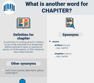 chapiter, synonym chapiter, another word for chapiter, words like chapiter, thesaurus chapiter