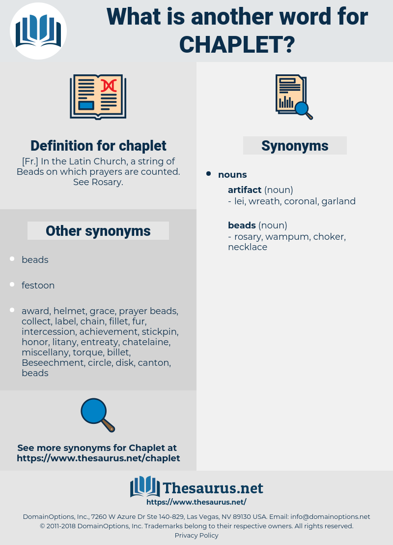 chaplet, synonym chaplet, another word for chaplet, words like chaplet, thesaurus chaplet