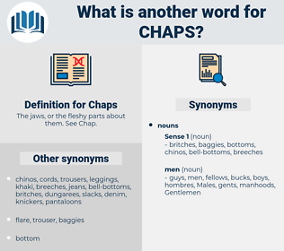 Chaps, synonym Chaps, another word for Chaps, words like Chaps, thesaurus Chaps