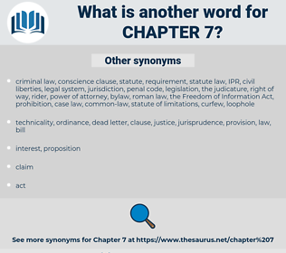 Chapter 7, synonym Chapter 7, another word for Chapter 7, words like Chapter 7, thesaurus Chapter 7