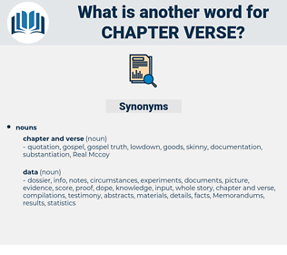 chapter verse, synonym chapter verse, another word for chapter verse, words like chapter verse, thesaurus chapter verse