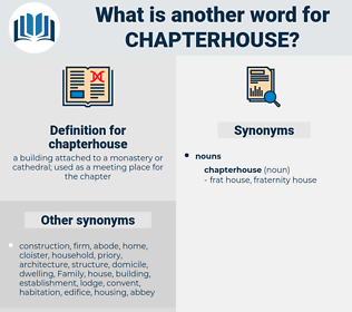 chapterhouse, synonym chapterhouse, another word for chapterhouse, words like chapterhouse, thesaurus chapterhouse
