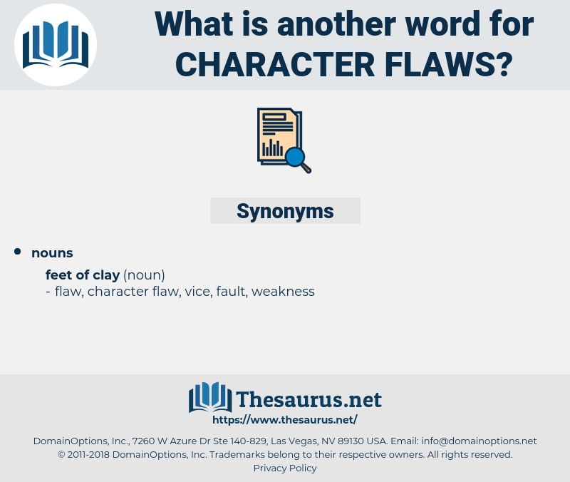 character flaws, synonym character flaws, another word for character flaws, words like character flaws, thesaurus character flaws