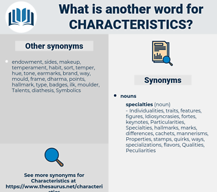 characteristics, synonym characteristics, another word for characteristics, words like characteristics, thesaurus characteristics