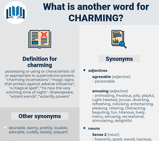 charming, synonym charming, another word for charming, words like charming, thesaurus charming