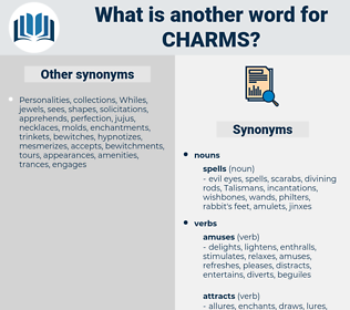 charms, synonym charms, another word for charms, words like charms, thesaurus charms