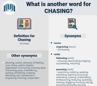 Chasing, synonym Chasing, another word for Chasing, words like Chasing, thesaurus Chasing