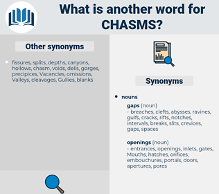 chasms, synonym chasms, another word for chasms, words like chasms, thesaurus chasms