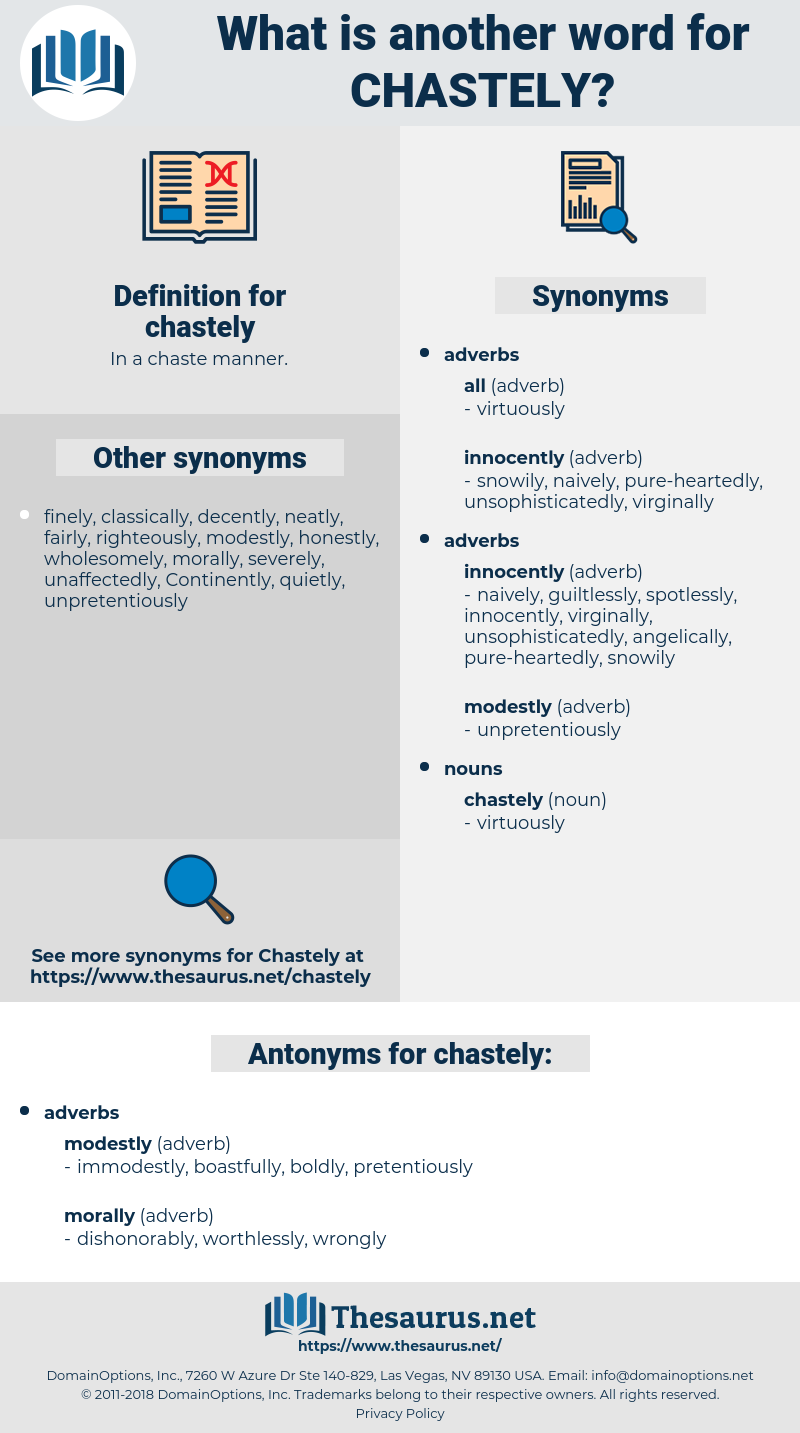 chastely, synonym chastely, another word for chastely, words like chastely, thesaurus chastely