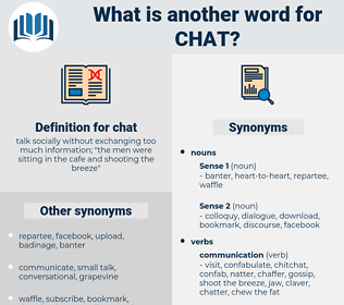 chat, synonym chat, another word for chat, words like chat, thesaurus chat