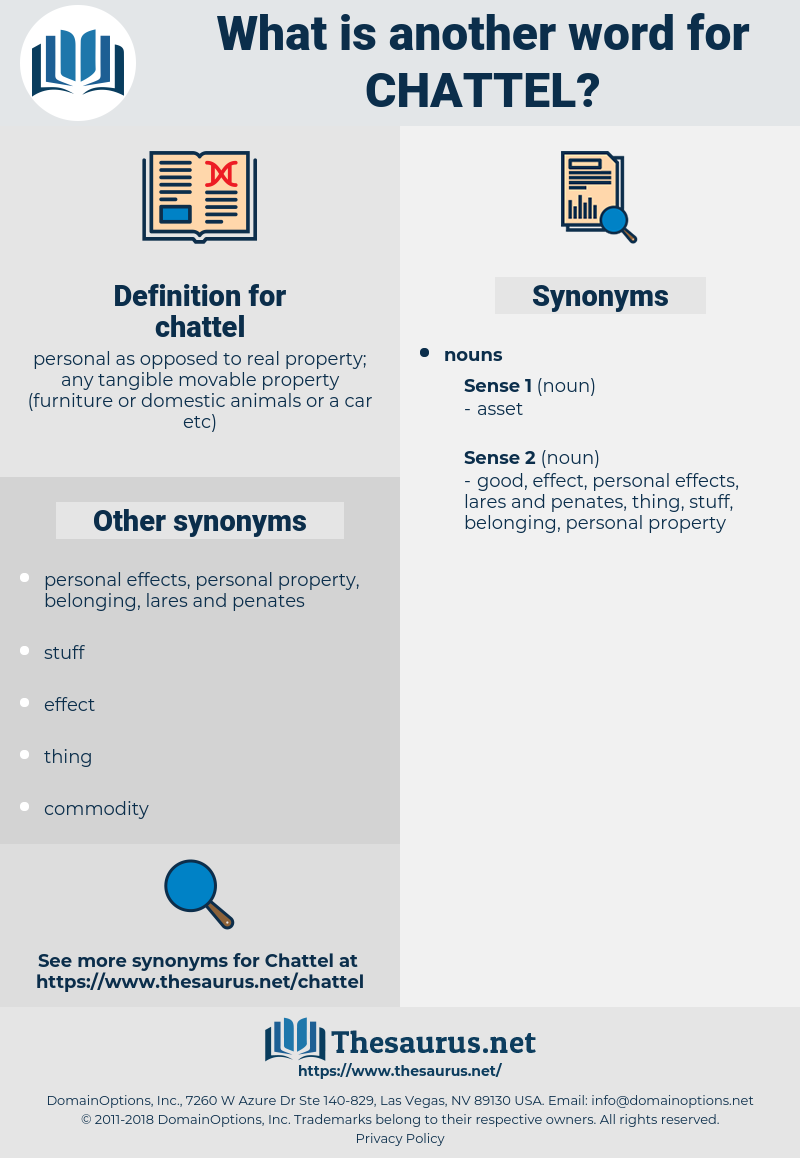 chattel, synonym chattel, another word for chattel, words like chattel, thesaurus chattel