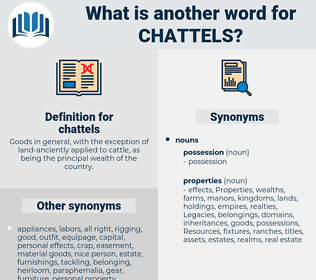 chattels, synonym chattels, another word for chattels, words like chattels, thesaurus chattels