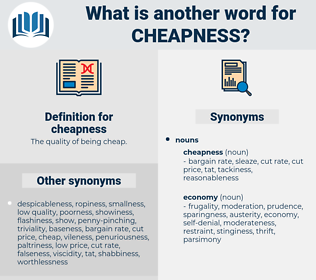 cheapness, synonym cheapness, another word for cheapness, words like cheapness, thesaurus cheapness