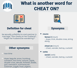cheat on, synonym cheat on, another word for cheat on, words like cheat on, thesaurus cheat on