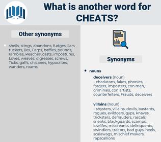 cheats, synonym cheats, another word for cheats, words like cheats, thesaurus cheats