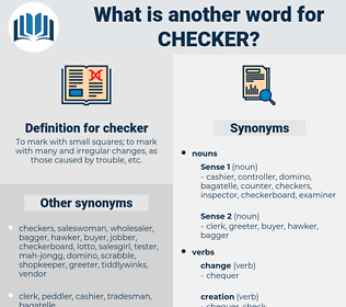 checker, synonym checker, another word for checker, words like checker, thesaurus checker