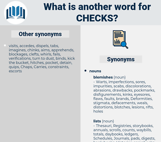 checks, synonym checks, another word for checks, words like checks, thesaurus checks