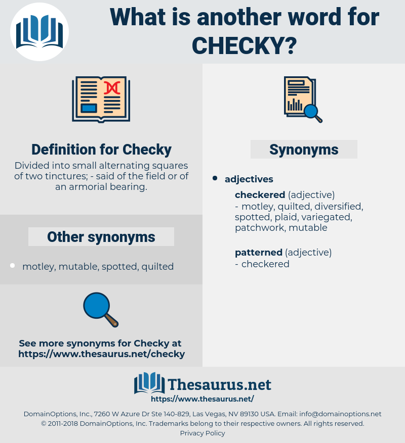 Checky, synonym Checky, another word for Checky, words like Checky, thesaurus Checky