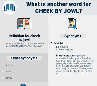 cheek by jowl, synonym cheek by jowl, another word for cheek by jowl, words like cheek by jowl, thesaurus cheek by jowl