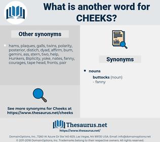 cheeks, synonym cheeks, another word for cheeks, words like cheeks, thesaurus cheeks