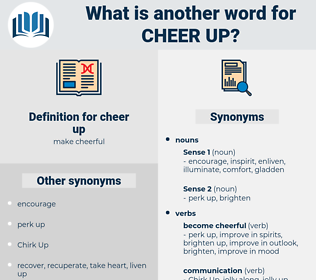 cheer up, synonym cheer up, another word for cheer up, words like cheer up, thesaurus cheer up