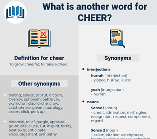 cheer, synonym cheer, another word for cheer, words like cheer, thesaurus cheer
