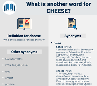 cheese, synonym cheese, another word for cheese, words like cheese, thesaurus cheese