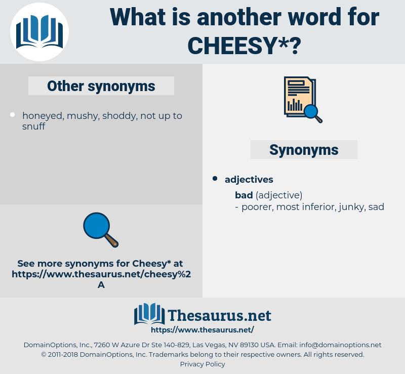 cheesy, synonym cheesy, another word for cheesy, words like cheesy, thesaurus cheesy