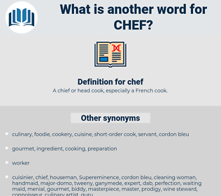 chef, synonym chef, another word for chef, words like chef, thesaurus chef