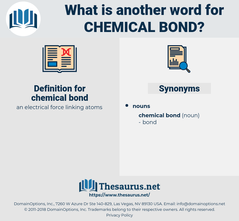 chemical bond, synonym chemical bond, another word for chemical bond, words like chemical bond, thesaurus chemical bond