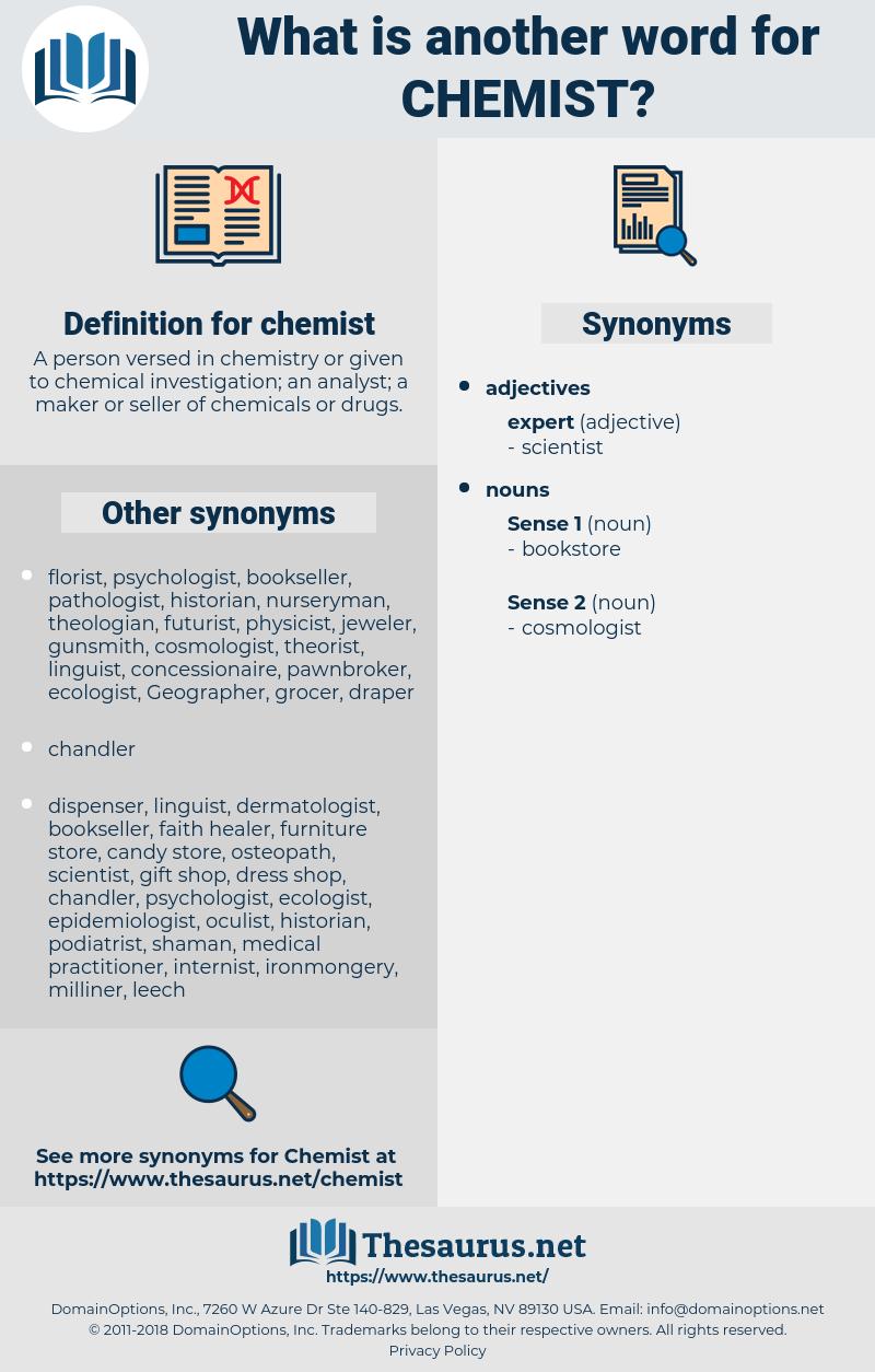 chemist, synonym chemist, another word for chemist, words like chemist, thesaurus chemist