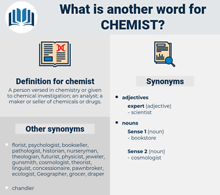 chemist, synonym chemist, another word for chemist, words like chemist, thesaurus chemist