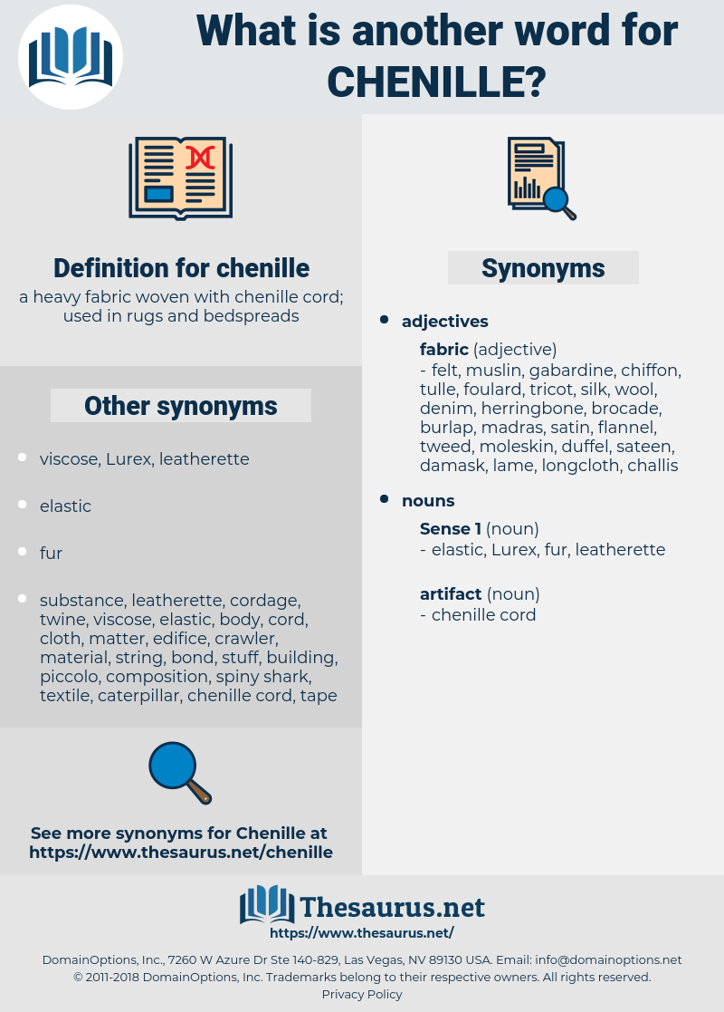 chenille, synonym chenille, another word for chenille, words like chenille, thesaurus chenille