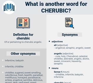 cherubic, synonym cherubic, another word for cherubic, words like cherubic, thesaurus cherubic