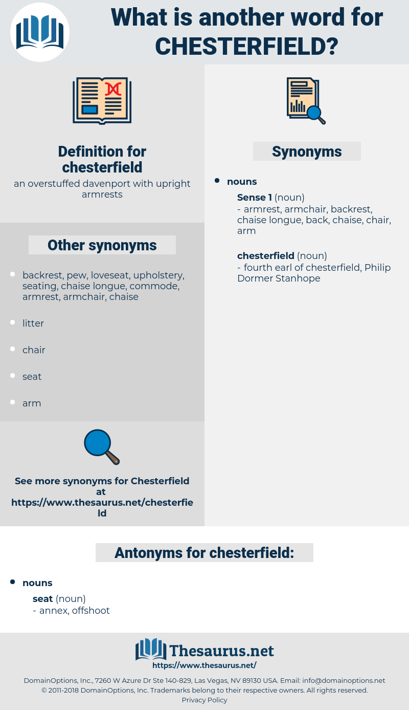 chesterfield, synonym chesterfield, another word for chesterfield, words like chesterfield, thesaurus chesterfield