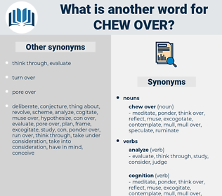 chew over, synonym chew over, another word for chew over, words like chew over, thesaurus chew over