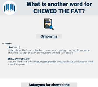 chewed the fat, synonym chewed the fat, another word for chewed the fat, words like chewed the fat, thesaurus chewed the fat
