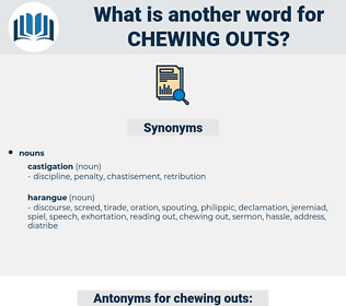 chewing outs, synonym chewing outs, another word for chewing outs, words like chewing outs, thesaurus chewing outs