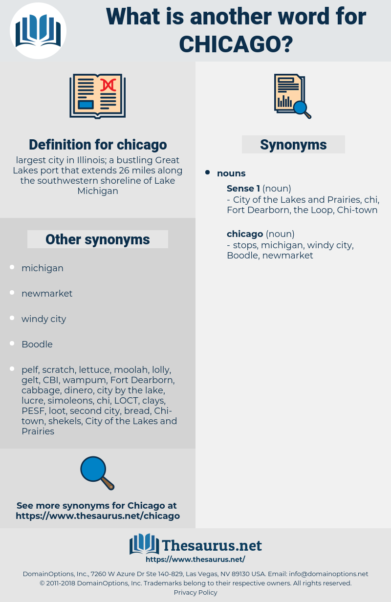 chicago, synonym chicago, another word for chicago, words like chicago, thesaurus chicago