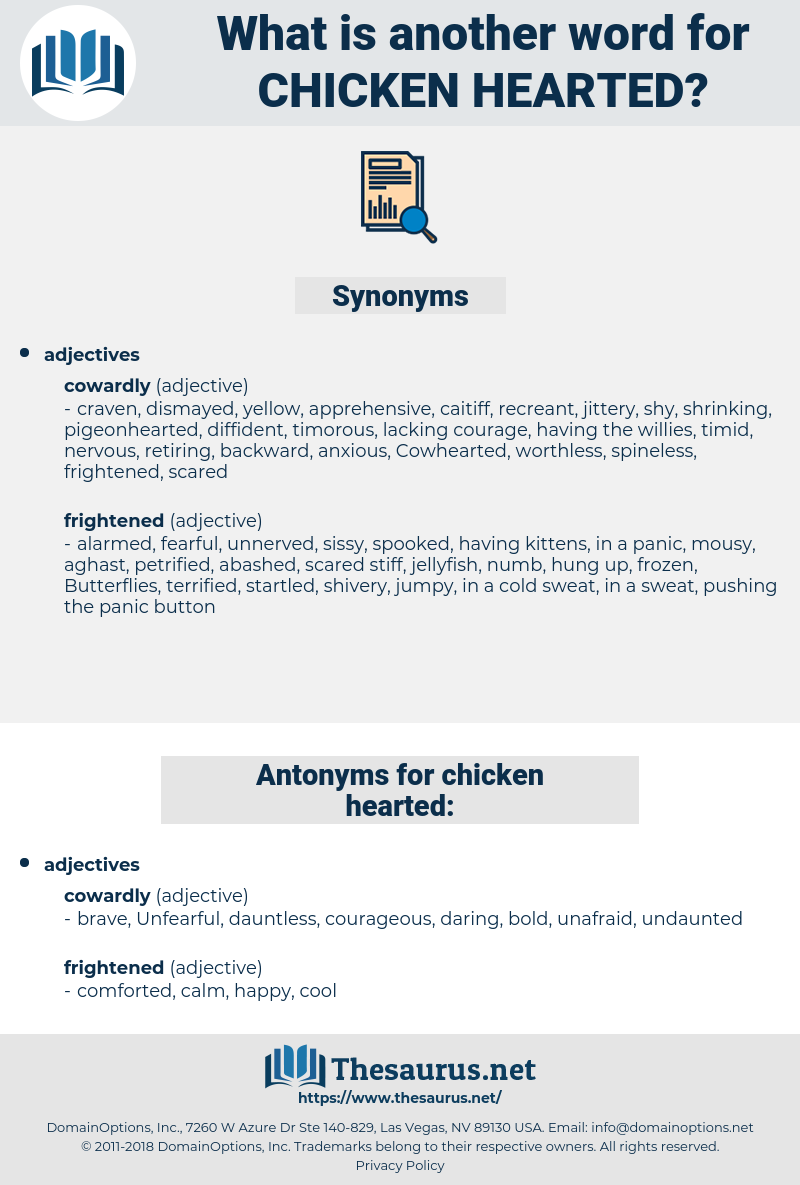 Chicken-hearted, synonym Chicken-hearted, another word for Chicken-hearted, words like Chicken-hearted, thesaurus Chicken-hearted