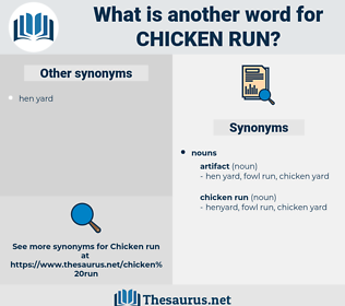 chicken run, synonym chicken run, another word for chicken run, words like chicken run, thesaurus chicken run
