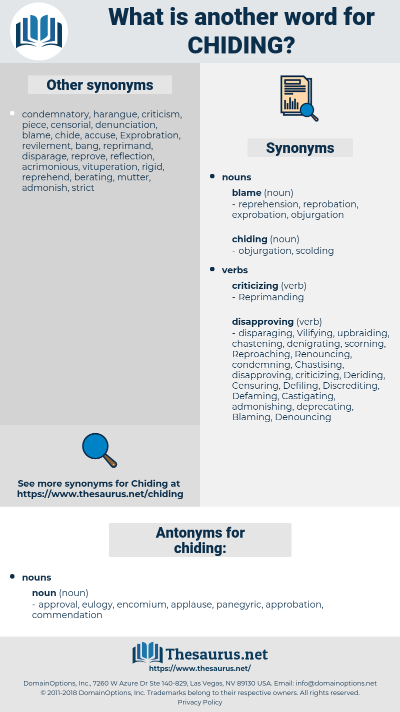 chiding, synonym chiding, another word for chiding, words like chiding, thesaurus chiding