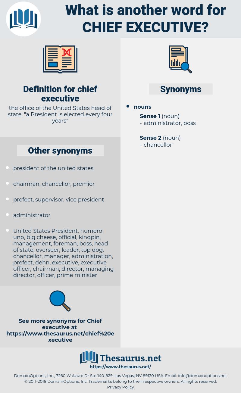chief executive, synonym chief executive, another word for chief executive, words like chief executive, thesaurus chief executive